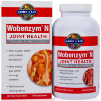 Garden of Life, Wobenzym N, Healthy Inflammation and Joint Support - 800 Enteric-Coated Ta