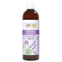 Aura Cacia, Aromatherapy Body Oil, Relaxing Lavender - 8 fl oz (237 ml)