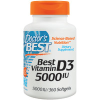 Doctor's Best, Best Vitamin D3, 5000 IU - 360 Softgels