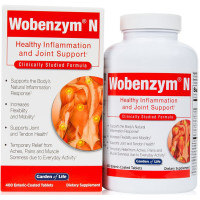 Garden of Life, Wobenzym N, Healthy Inflammation and Joint Support - 400 Enteric-Coated Ta