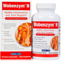 Garden of Life, Wobenzym N, Healthy Inflammation and Joint Support - 200 Enteric-Coated Ta