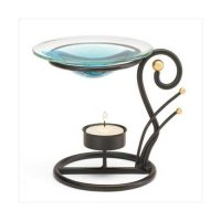 Gift Warehouse, Black Metal Oil Warmer