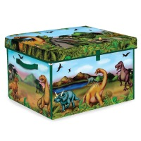 ZipBin 160 Dinosaur Collector Toy Box & Play set with 2 Dinosaurs