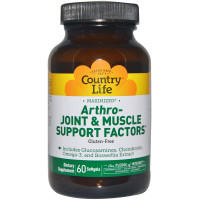 Country Life, Arthro - Joint & Muscle Support Factors, Gluten Free - 60 Softgels
