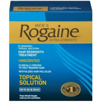 Rogaine, Hair Regrowth 3 Month Treatment for Men, Extra Strength Topical Solution - 2 Ounc