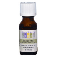 Aura Cacia, 100% Pure Essential Oil, Bergamot, Bergaptene-Free, Uplifting - 0.5 fl oz (15