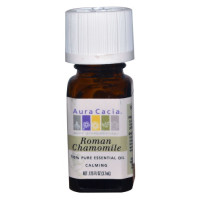 Aura Cacia, 100% Pure Essential Oil, Roman Chamomile - 0.125 fl oz (3.7 ml)