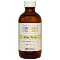 Aura Cacia, 100% Pure Essential Oil, Tea Tree, Cleansing - 4 fl oz (118 ml)