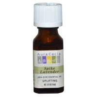 Aura Cacia, 100% Pure Essential Oil, Spike Lavender- 0.5 fl oz (15 ml)