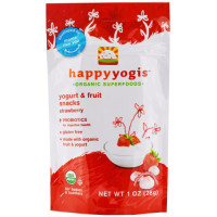 HappyFamily, HappyYogis Organic Superfoods Yogurt and Fruit Snacks - 1 oz. (28 g)  * Selec