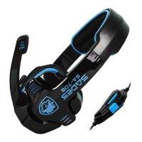 SADES, SA-708 Stereo Gaming Headphone Headset with Microphone (Blue)