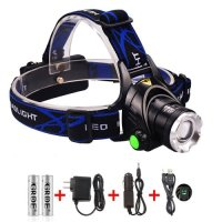 GRDE, Zoomable 3 Modes 1800 Lumens Led Headlamp Multi-Function Capability