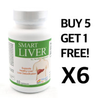 Smart Nutri, Smart Liver - 60 Caps  X 6 Pack Set  (5 Bottles + 1 Bottle Free)
