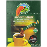 Mount Hagen, Organic Instant Decaffeinated Coffee - 25 Count Single Serve Sticks