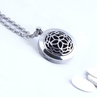Fine Line Living, Aromatherapy Essential Oil Diffuser Necklace For Enjoying Your Oils On T