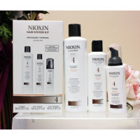 Nioxin, System 4 Kit For Fine Hair Chemically Treated Noticeably Thinning Hair - 3 pcs