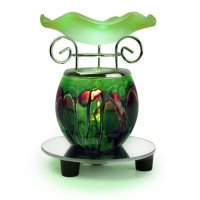 Maple City Gifts, 1 X Green Oil Warmer on Mirror Base