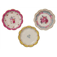 TKTB, Truly Scrumptious 3 different designs Tea Party Plates - 12 Pack
