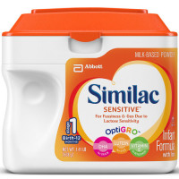 Similac, Sensitive Infant Formula Powder with Iron, Birth to 12 Months - 22.5 Ounce (638 g
