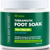 Pure Body Naturals,100% Natural Therapeutic Foot Soak, Tea Tree Essential Oil, Spa Soothin