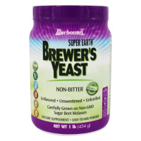 Bluebonnet Nutrition, Super Earth Brewer's Yeast Powder Non-Bitter Unflavored - 1 lb (454