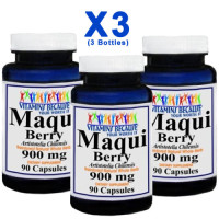 Vita Bec, Maqui Berry Super Antioxidant, 900 mg - 90 Caps X (3 Bottles)