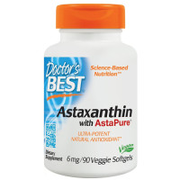 Doctor's Best, Astaxanthin With AstaPure, 6 mg - 90 Veggie Softgels