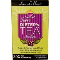 Natrol, Laci Le Beau, Super Dieter's Tea, Acai Berry, Caffeine Free, 30 Tea Bags - 2.63 oz