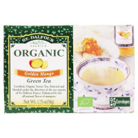 St. Dalfour, Green Tea Premium Organic Golden Mango - 25 Tea Bags