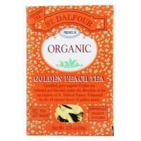 St. Dalfour, Green Tea Premium Organic Golden Peach - 25 Tea Bags