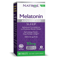 Natrol, Melatonin, Advanced Sleep, Time Release, 10 mg - 60 Tablets