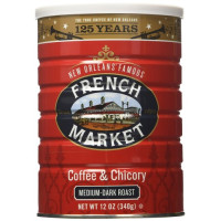 FMC, French Market Coffee and Chicory, Medium Dark Roast - 12 Ounce