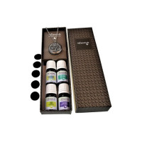 MESN, Essential Oil Stainless Steel Locket Pendant with 24
