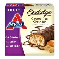 Atkins, Endulge Treat, Caramel Nut Chew Bar, 5 Bars - 1.2 oz (34 g) each