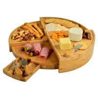 PAA, Vienna Transforming Bamboo Cheese Board Set with 3 Cheese Tools
