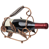 Bogo Brands, Bronze Metal Wine and Champagne Bottle Tabletop Holder