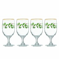 Lenox, Holiday Iced Beverage Glasses - Set of 4 (Ivory)