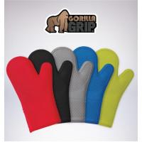 Gorilla Grip, The Original GORILLA GRIP Non-Slip Silicone Oven Mitt - Set of 2 (Blue)