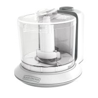 BLACK+DECKER, 1.5-Cup Electric Food Chopper - White