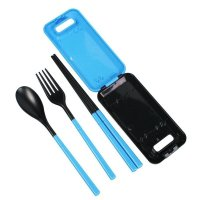 ULTNICE, Environmental Folding Cutlery Flatware Fork Spoon Chopsticks for Outdoor Travel (