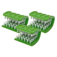 Jokari, Crazy But It Works Scrub Gator Utensil and Dish Scrubber, Green - 3 Pack