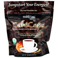 Madre Labs, CafeCeps, Certified Organic Instant Coffee with Cordyceps and Reishi Mushroom