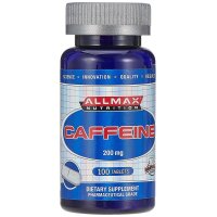 ALLMAX Nutrition, 100% Pure Caffeine + Easy-To-Cut in Half Pill, 200 mg - 100 Tablets