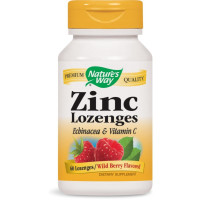 Nature's Way, Zinc Lozenges, Wild Berry Flavor - 60 Lozenges