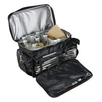 TKS, BBQ Grill Accessories Tool Set with Insulated Cooler Bag