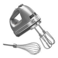 KAID, 7-Speed Digital Hand Mixer with Turbo Beater II Accessories and Pro Whisk - Contour