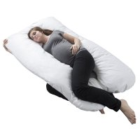 Bluestone, Full Body Maternity Pillow with Contoured U-Shape (White)