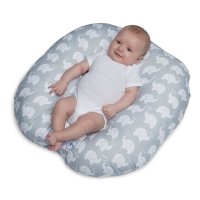 BPY, Elephant Love Newborn Lounger - Gray