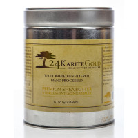 24KGold, 100% Raw and Organic African Shea butter, Unrefined - 16 oz.