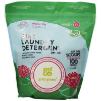 Grab Green, Natural 3-in-1 Laundry Detergent Powder, Water Lily - 100 Loads